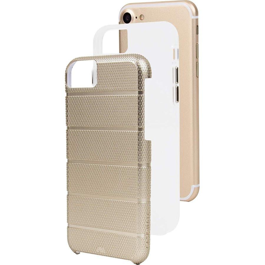 iPhone SE(第2世代) / iPhone8 対応 Tough Mag Case-Gold / Clear 5