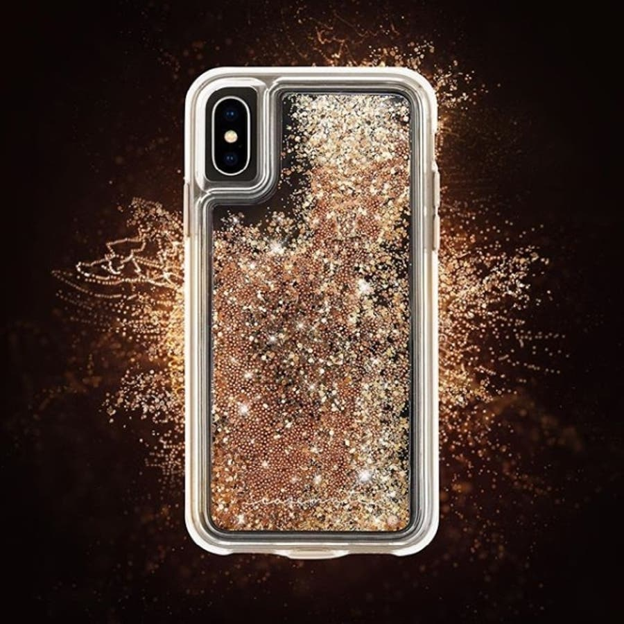 iPhoneXS Max対応ケース Waterfall-Gold 4