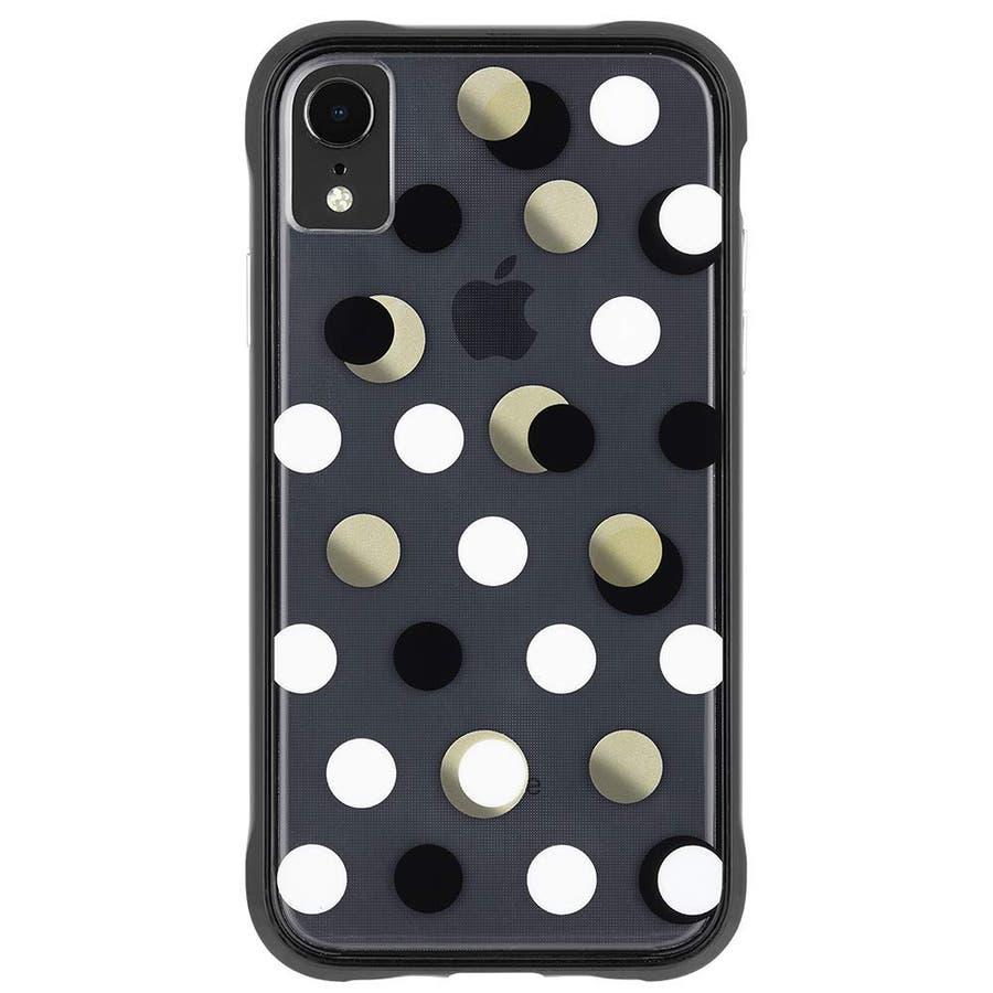 iPhoneXR対応ケース Wallpapers-Metallic Dot 4