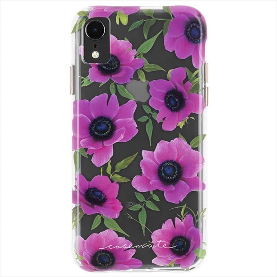iPhoneXR対応ケース Wallpapers-Pink Poppy 3