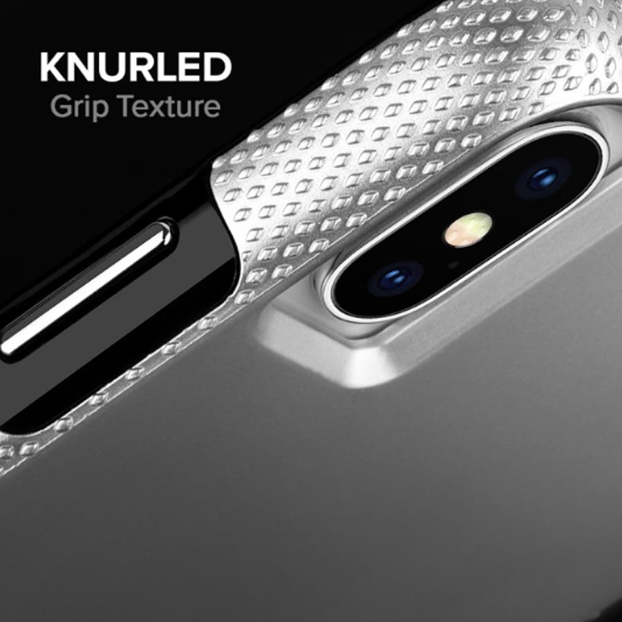 iPhoneXS Max対応ケース Tough Grip-Silver/Black 2