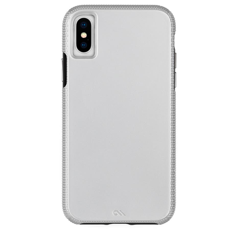iPhoneXS Max対応ケース Tough Grip-Silver/Black 3