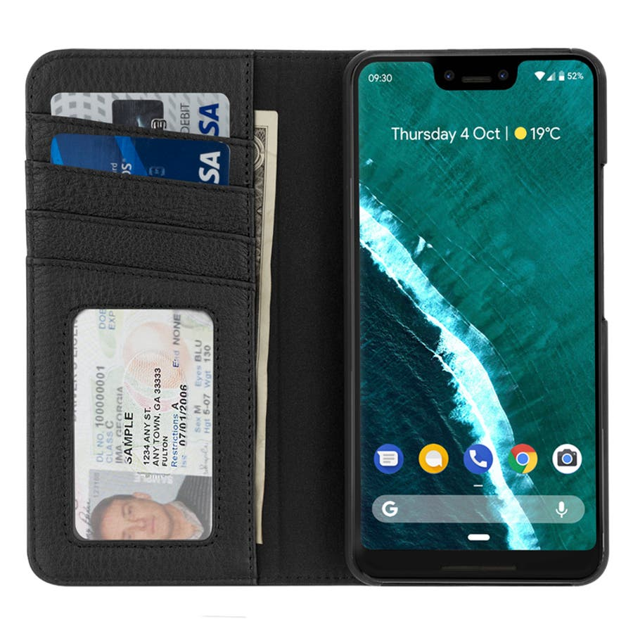 Google Pixel3 対応ケース Wallet Folio-Black 4