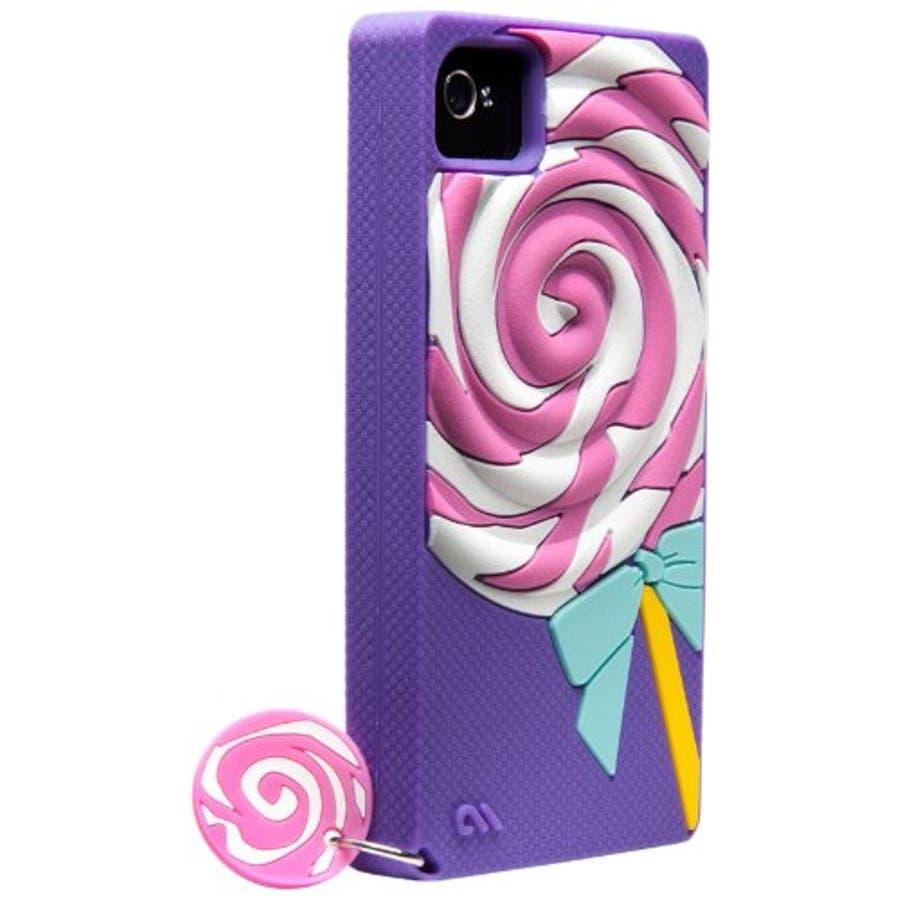 iPhone 4S/4 対応ケース Creatures: Lolly Pop, Violet 4