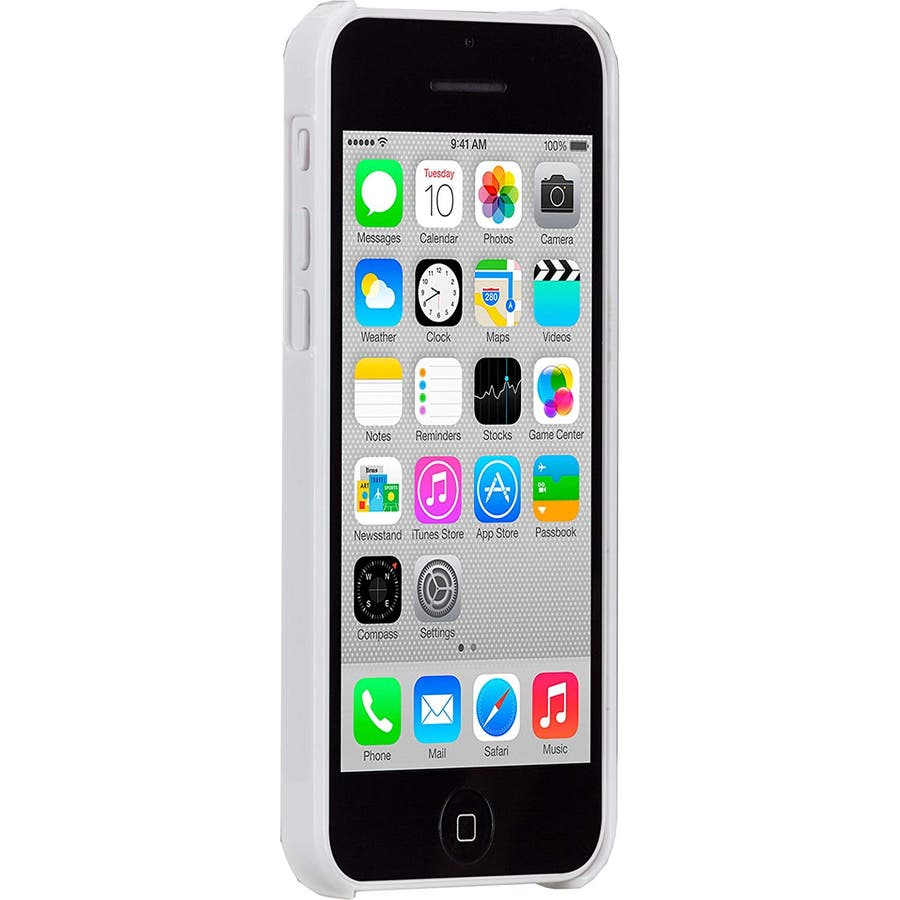 iPhone 5c 対応ケースBarely There Case, Glossy White 2