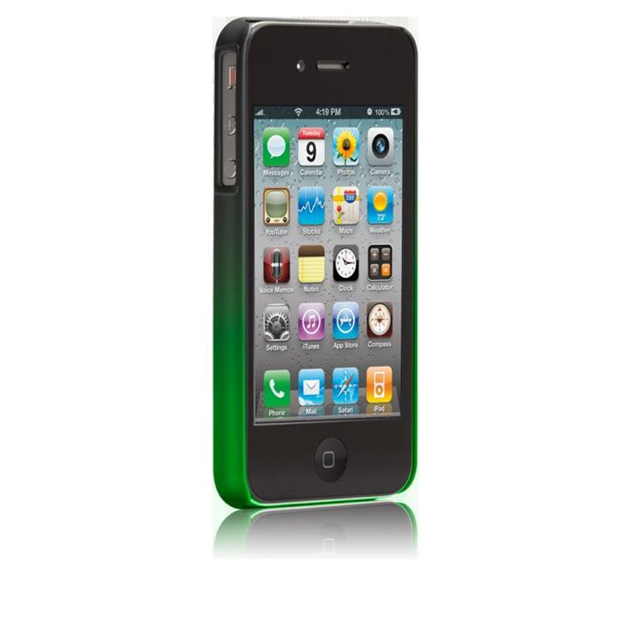 iPhone 4S/4 対応ケース ID Case, Matte Royal Green 2