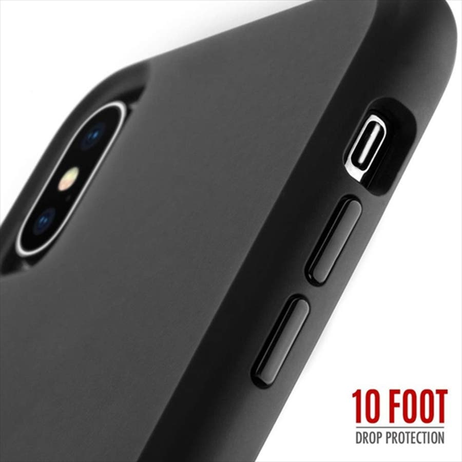 iPhoneXS/X対応ケース Tough-Matte Black 5
