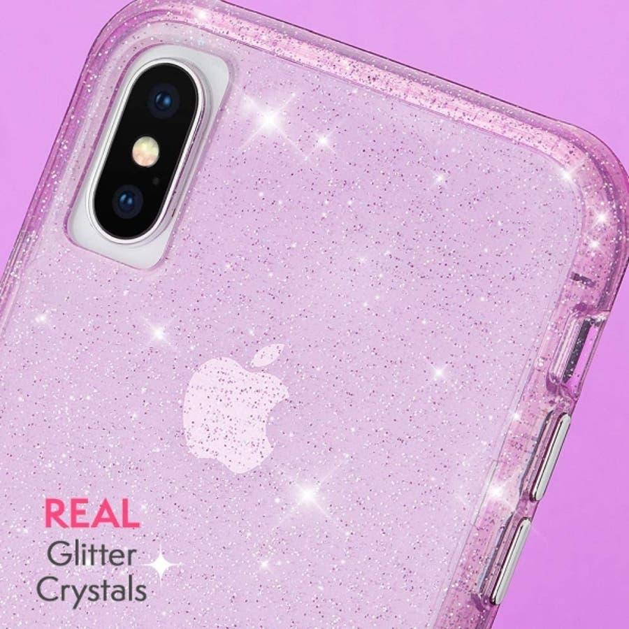 iPhoneXS Max対応ケース Sheer Crystal-Blush 1