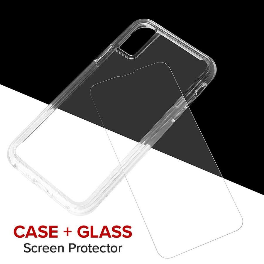 iPhoneXS/X 対応ケース Tough Clear & Screen Protector 3