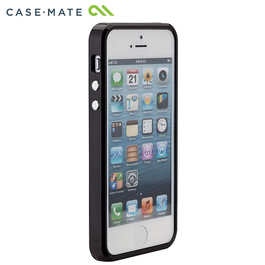 iPhone SE/5s/5 対応ケース Crafted Case Pearl, Black 4