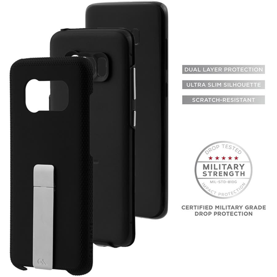 Galaxy S8+対応ケース Hybrid Tough Stand-Black 1