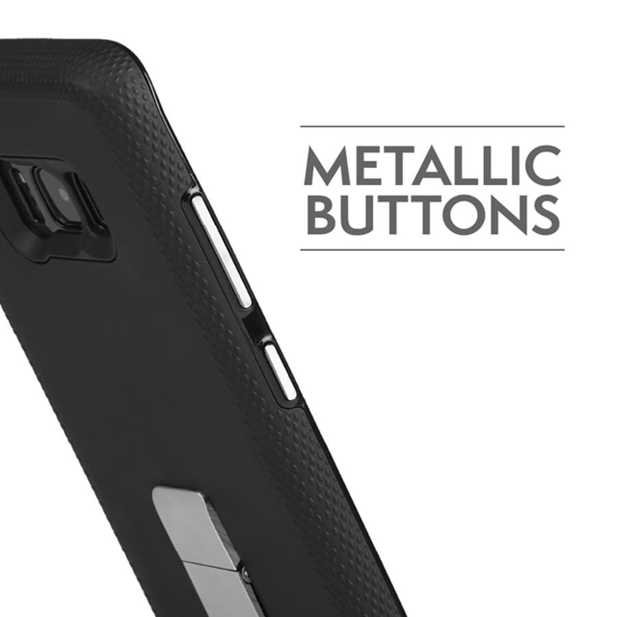 Galaxy S8+対応ケース Hybrid Tough Stand-Black 2