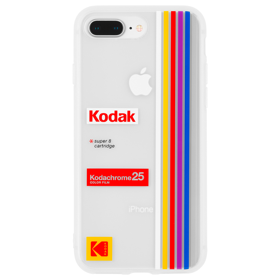 【Case-Mate×Kodak コラボレーション】 iPhone 8Plus / 7Plus / 6sPlus /6PlusKodak Striped Kodachrome Super 8 1