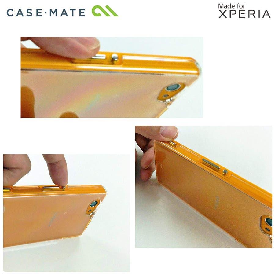 Xperia A2 /J1 Compact /Z1 f 対応ケース Hybrid Tough Naked Case,Clear/Orange 4