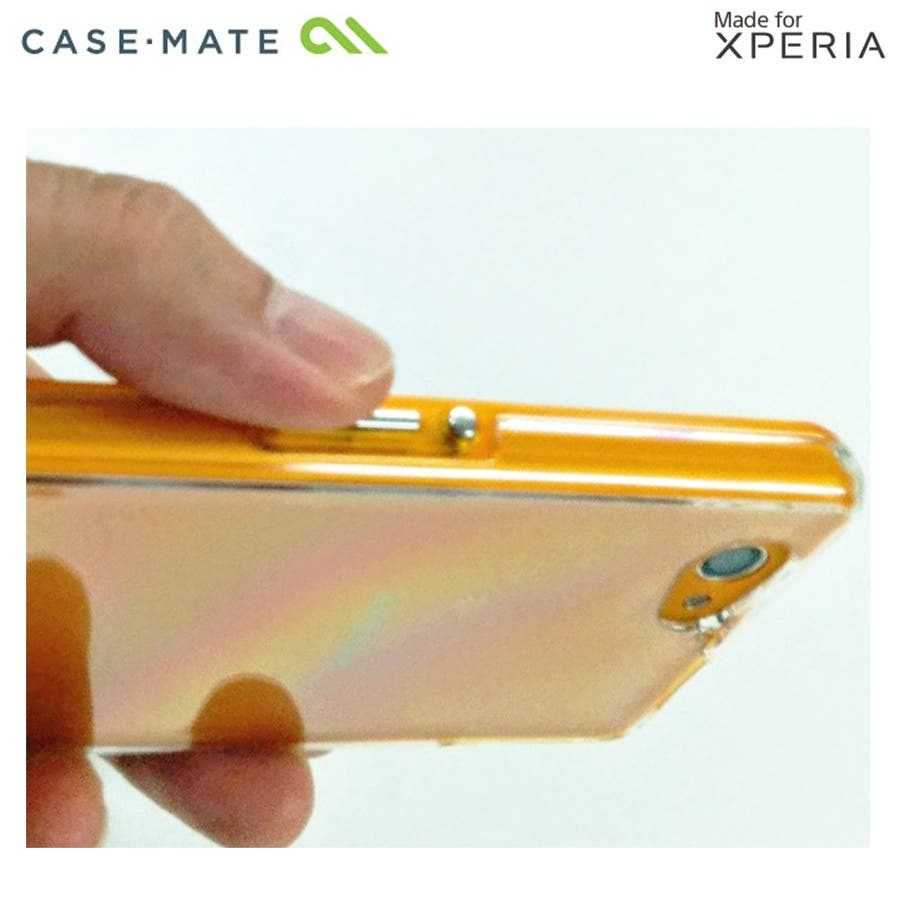 Xperia A2 /J1 Compact /Z1 f 対応ケース Hybrid Tough Naked Case,Clear/Orange 6