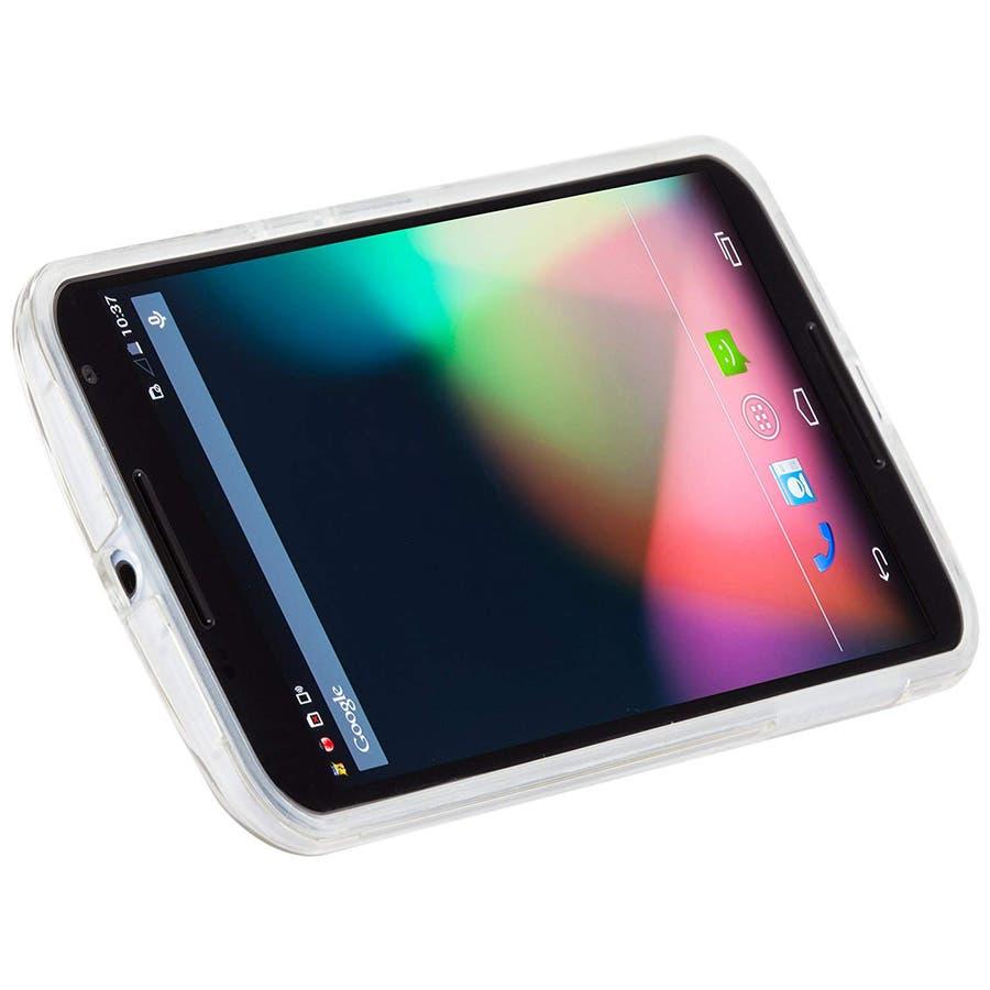 Google Nexus 6 対応ケース Hybrid Tough Naked Case, Clear/Clear スタンド機能付き 2