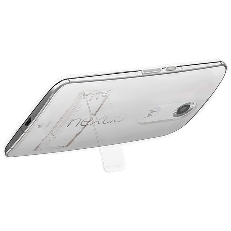 Google Nexus 6 対応ケース Hybrid Tough Naked Case, Clear/Clear スタンド機能付き 5
