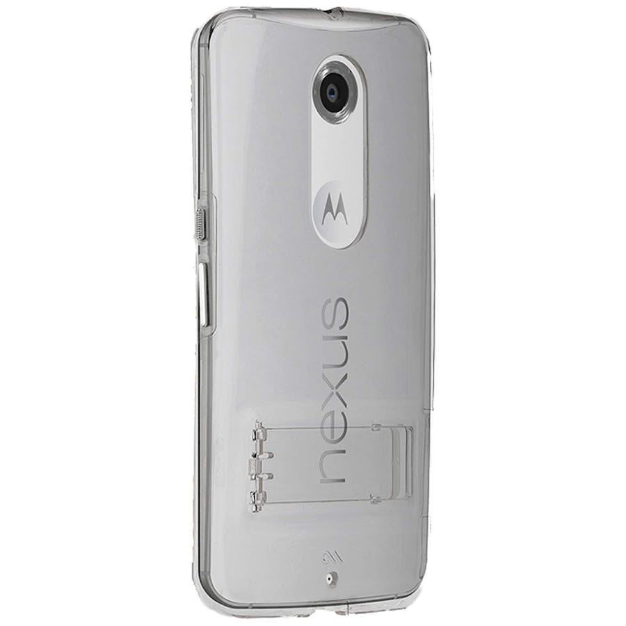 Google Nexus 6 対応ケース Hybrid Tough Naked Case, Clear/Clear スタンド機能付き 6