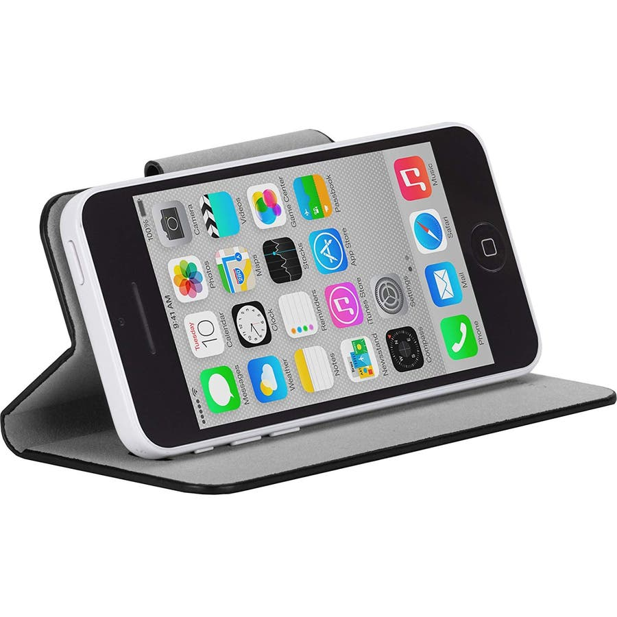 iPhone 5c 対応ケースSlim Folio Case, Black 3