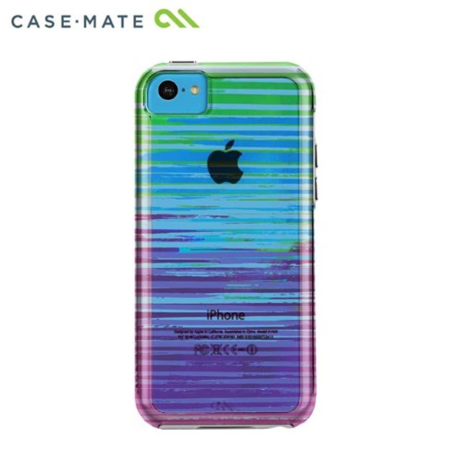 iPhone 5c 対応ケースハイブリッド タフ ネイキッド プリント ケース, ストライプ 4