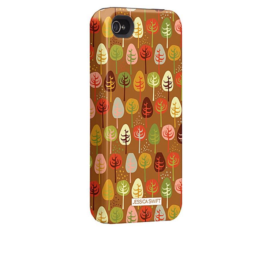 iPhone 4S/4 対応ケース Hybrid Tough Case, Cosy Forest/Autumn Glory 1