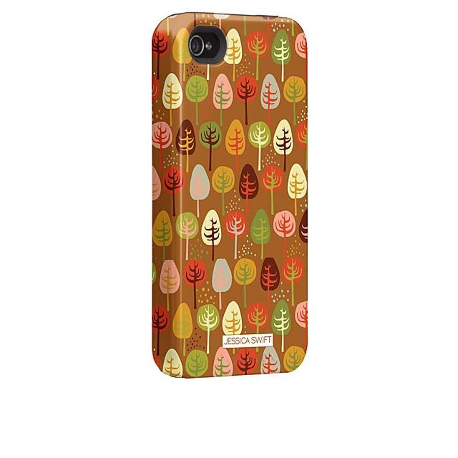 iPhone 4S/4 対応ケース Hybrid Tough Case, Cosy Forest/Autumn Glory 2