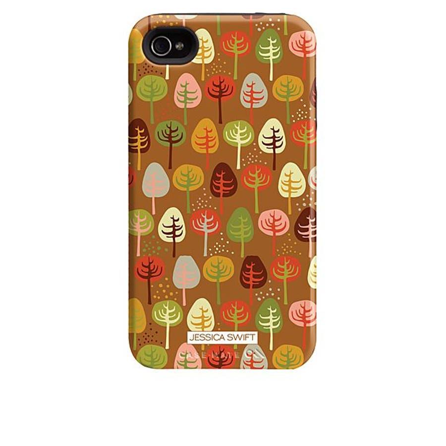iPhone 4S/4 対応ケース Hybrid Tough Case, Cosy Forest/Autumn Glory 3