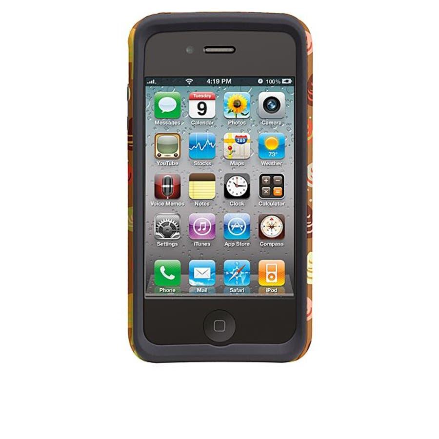 iPhone 4S/4 対応ケース Hybrid Tough Case, Cosy Forest/Autumn Glory 4