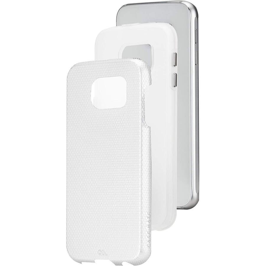 Galaxy S6 対応ケース Hybrid Tough Case,Pearl White / Clear 1