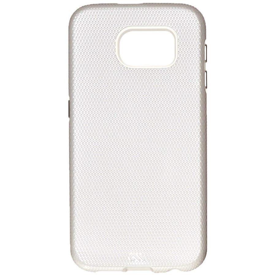 Galaxy S6 対応ケース Hybrid Tough Case,Pearl White / Clear 4