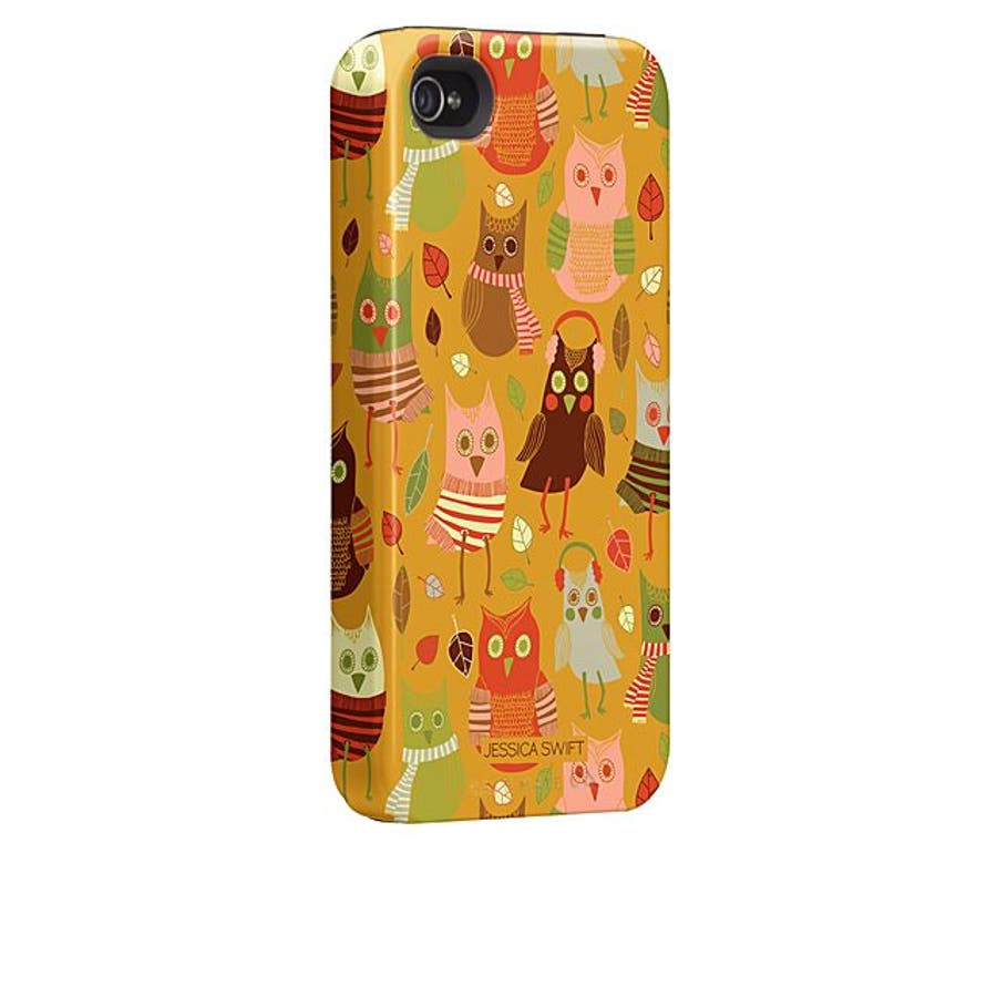 iPhone 4S/4 対応ケース Hybrid Tough Case, Cosy Forest/Fall Owls 2