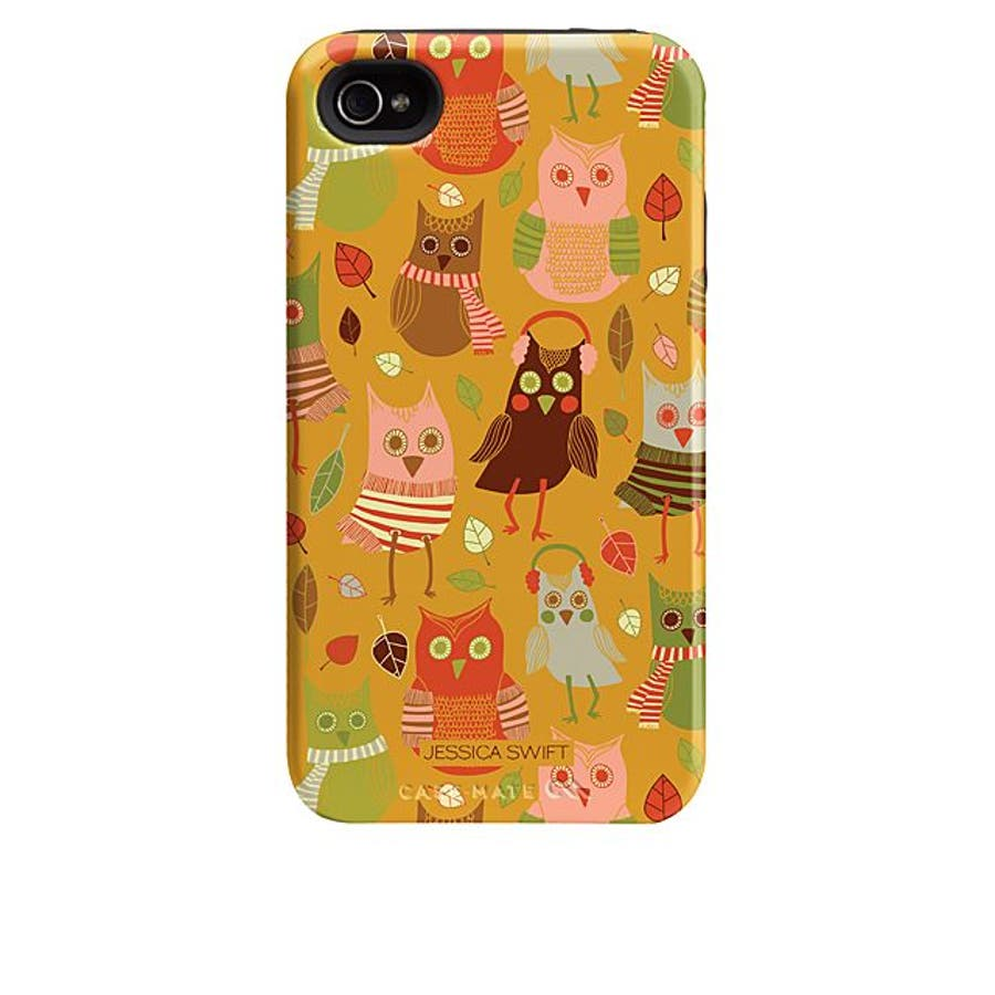 iPhone 4S/4 対応ケース Hybrid Tough Case, Cosy Forest/Fall Owls 4