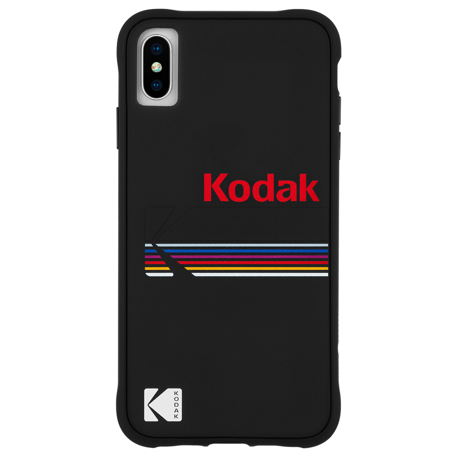 【Case-Mate×Kodak コラボレーション】 iPhone X/XS Case Kodak Matte Black+Shiny Black Logo 1