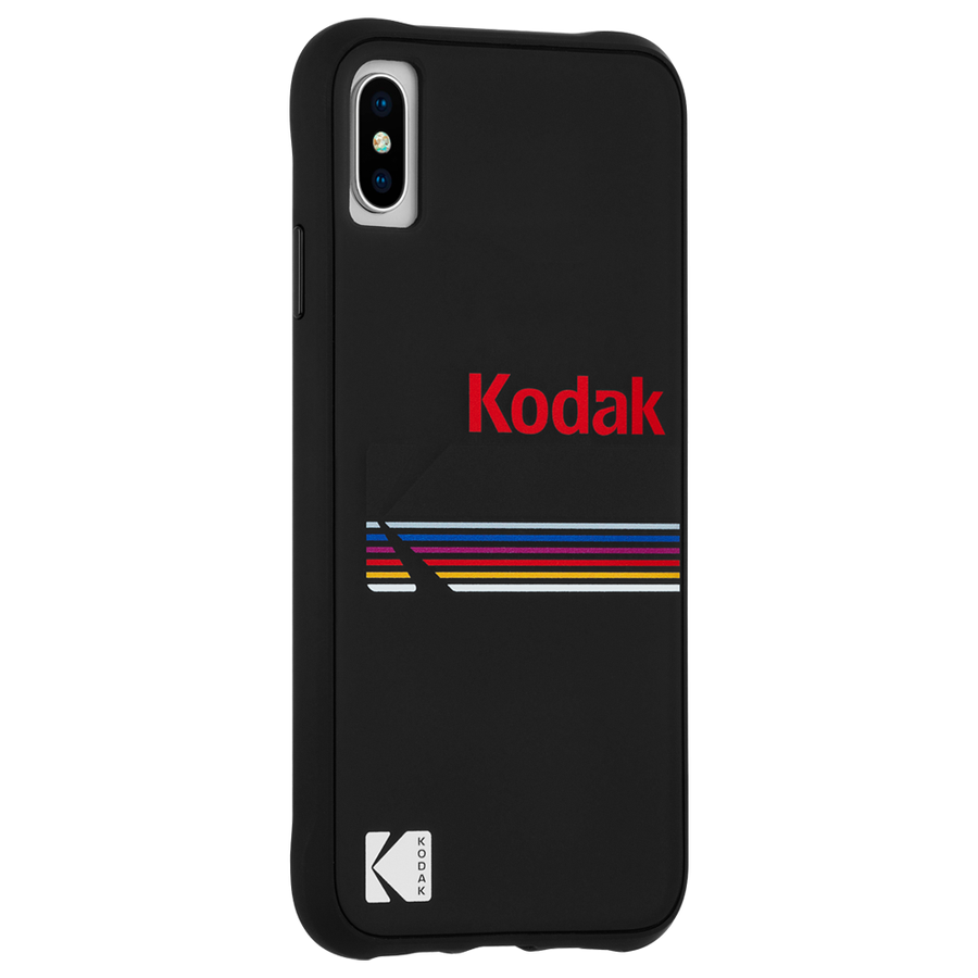 【Case-Mate×Kodak コラボレーション】 iPhone X/XS Case Kodak Matte Black+Shiny Black Logo 2