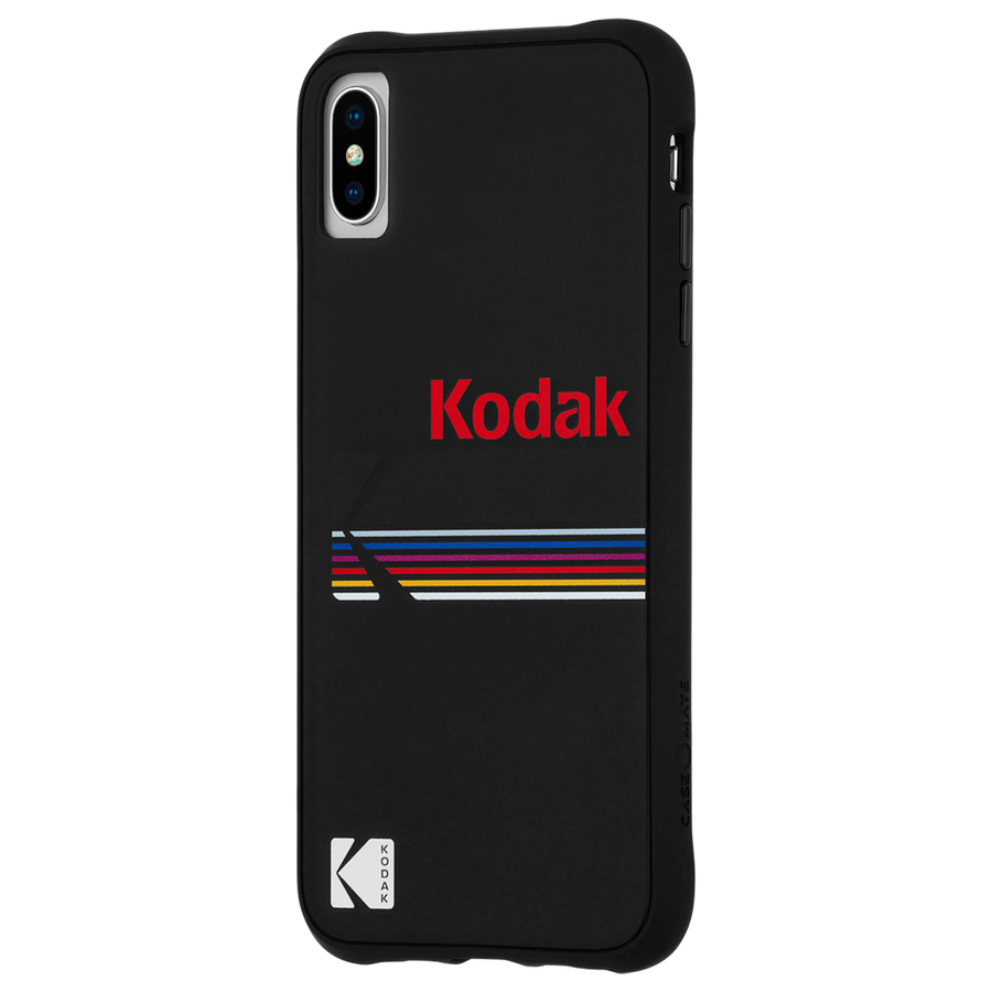 【Case-Mate×Kodak コラボレーション】 iPhone X/XS Case Kodak Matte Black+Shiny Black Logo 3