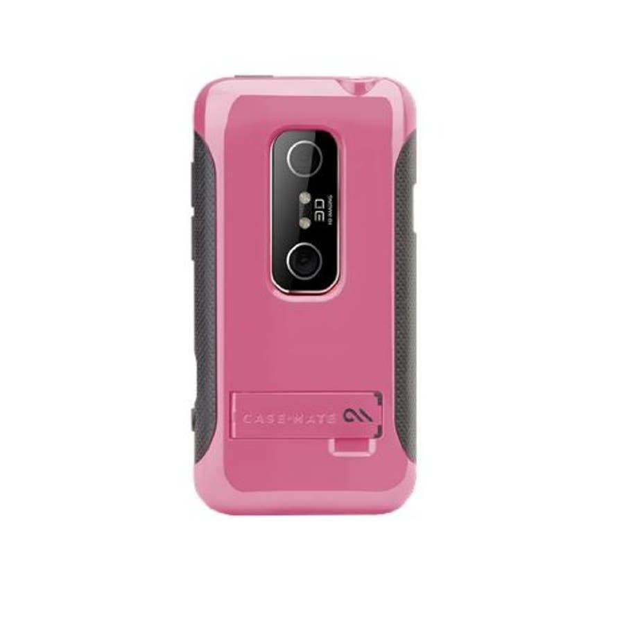 HTC EVO 3D 対応ケース POP Hybrid Seamless Case, Pink / Grey 1