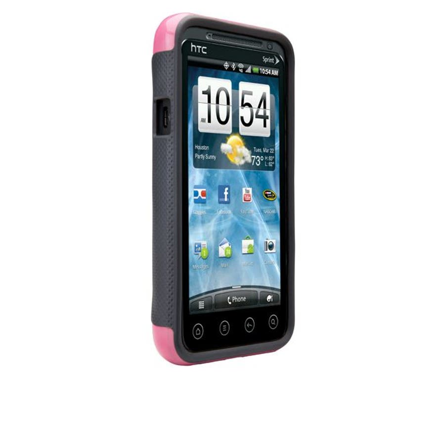HTC EVO 3D 対応ケース POP Hybrid Seamless Case, Pink / Grey 2