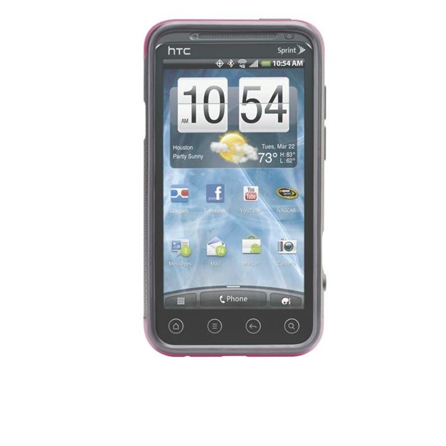HTC EVO 3D 対応ケース POP Hybrid Seamless Case, Pink / Grey 3