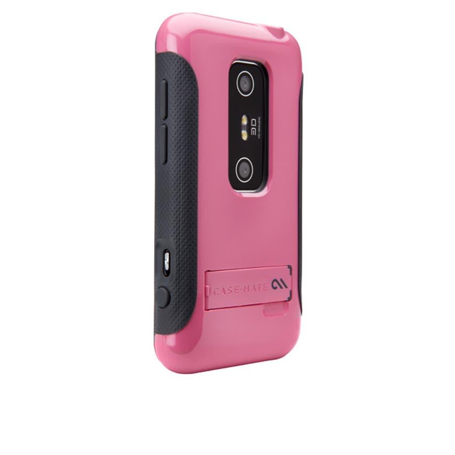 HTC EVO 3D 対応ケース POP Hybrid Seamless Case, Pink / Grey 4