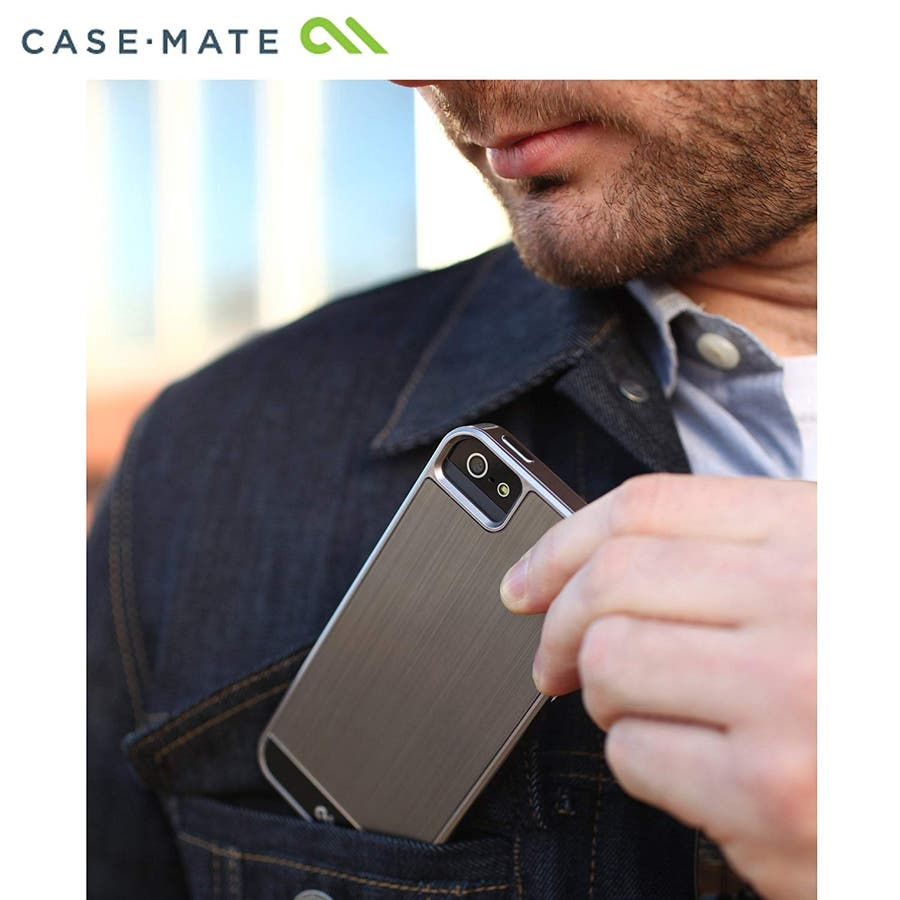 iPhone SE/5s/5 対応ケース Crafted Case Brushed Alminum, Gunmetal / Black 1