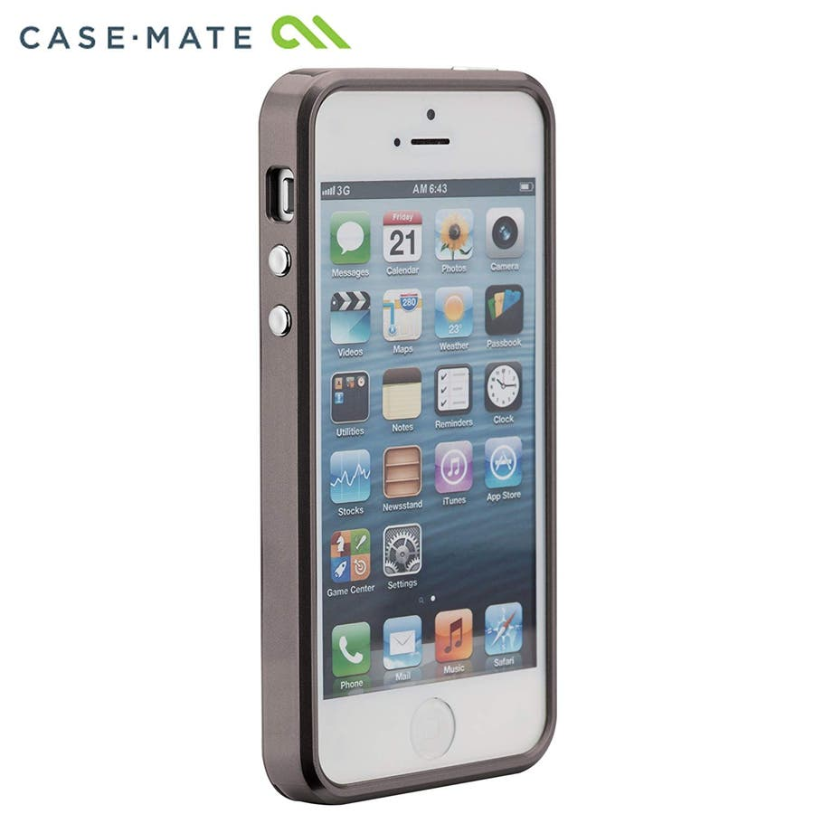 iPhone SE/5s/5 対応ケース Crafted Case Brushed Alminum, Gunmetal / Black 3