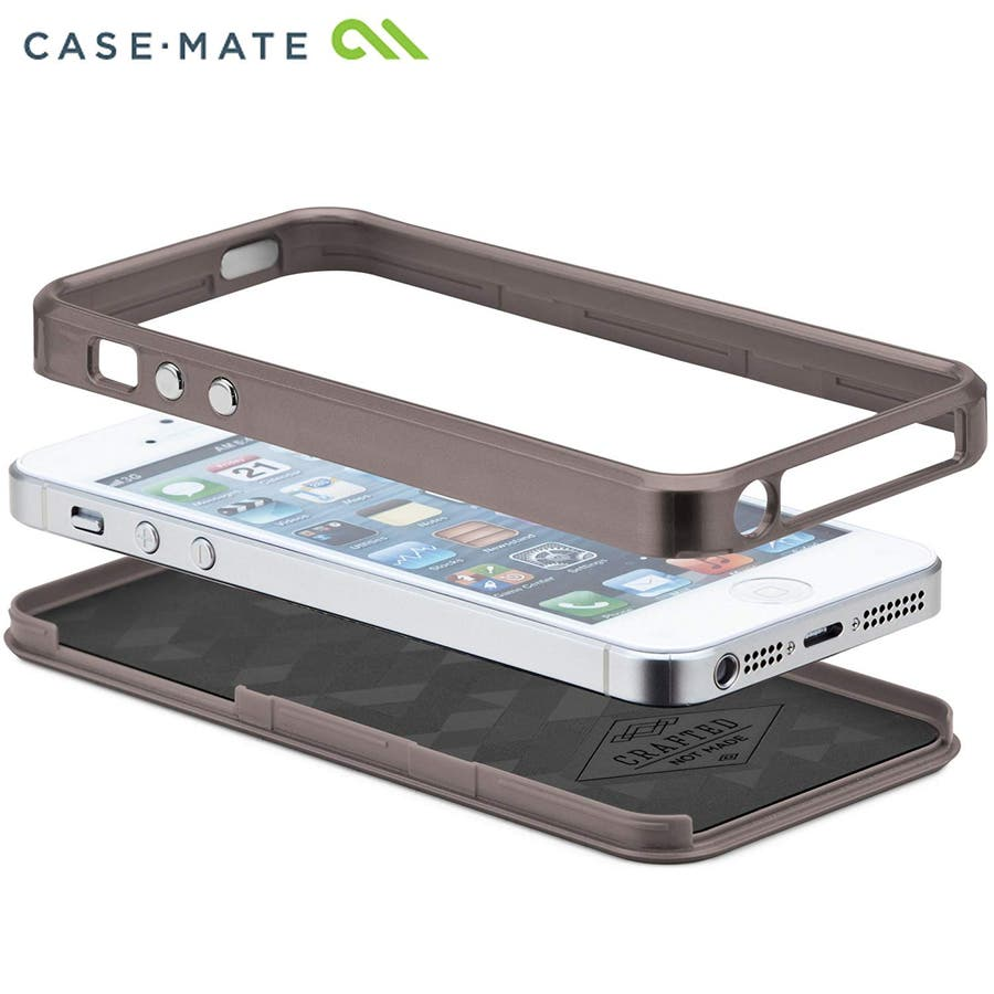 iPhone SE/5s/5 対応ケース Crafted Case Brushed Alminum, Gunmetal / Black 5