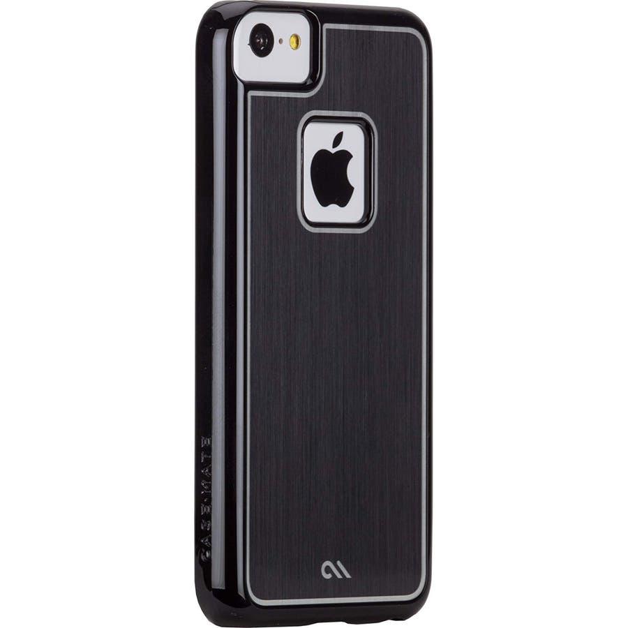 iPhone 5c 対応ケースBrushed Aluminum Effect Sleek Case, Black 1