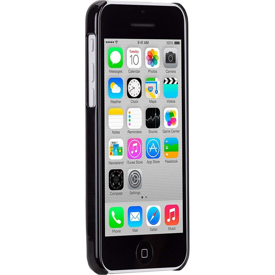 iPhone 5c 対応ケースBrushed Aluminum Effect Sleek Case, Black 2