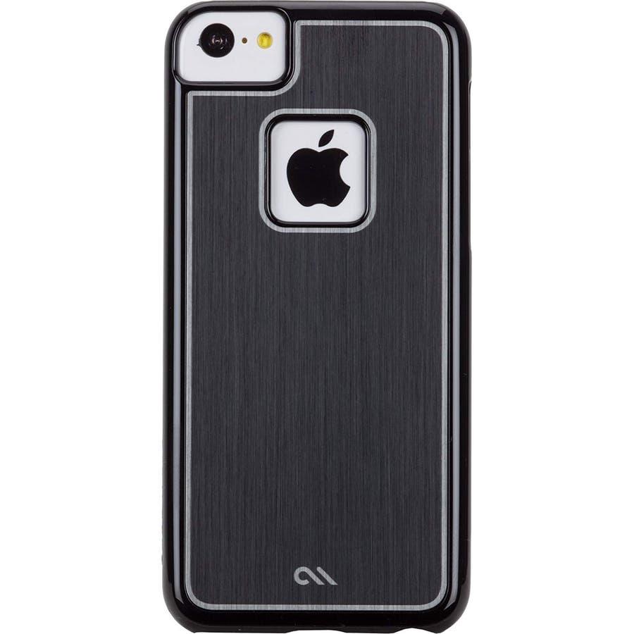 iPhone 5c 対応ケースBrushed Aluminum Effect Sleek Case, Black 3