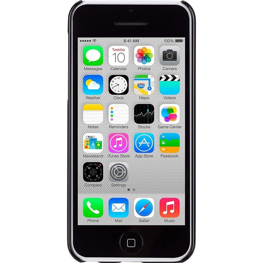 iPhone 5c 対応ケースBrushed Aluminum Effect Sleek Case, Black 4