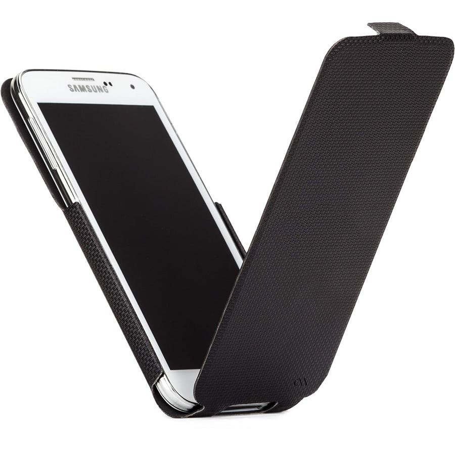 Galaxy S5 対応ケース Slim Flip Case, Black 1