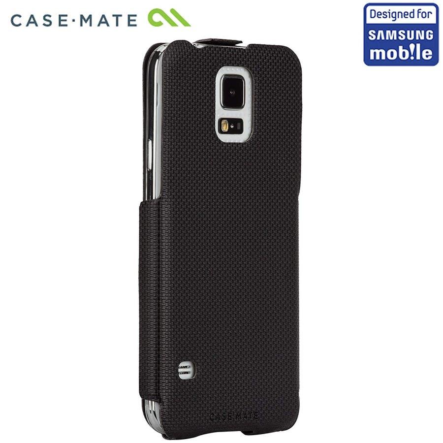Galaxy S5 対応ケース Slim Flip Case, Black 2