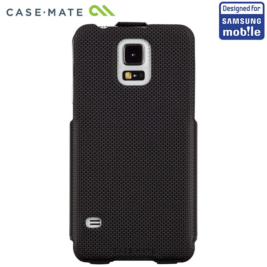 Galaxy S5 対応ケース Slim Flip Case, Black 4