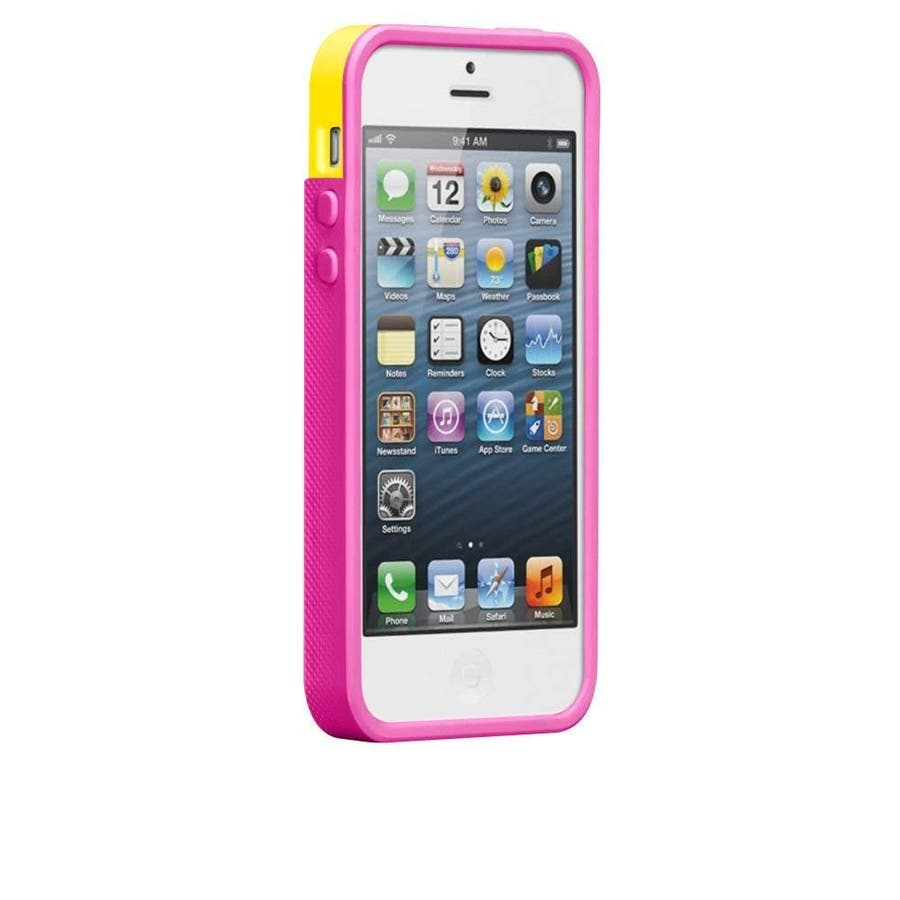 iPhone SE/5s/5 対応ケース POP! with Stand Case, Solar Yellow/Neon Pink 2
